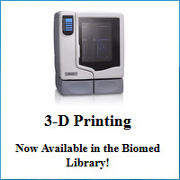 3D printing in the Biomed Library