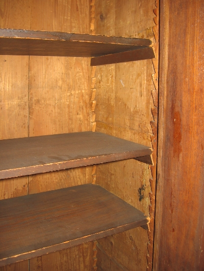 Shelves inside the cabinet