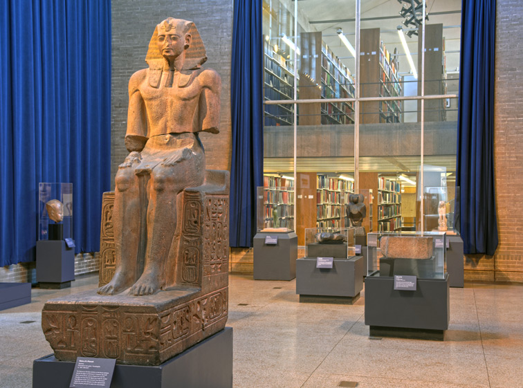 Library seen from Egyptian Gallery