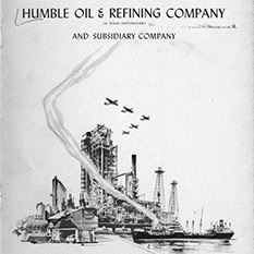 Title page drawing of refinery