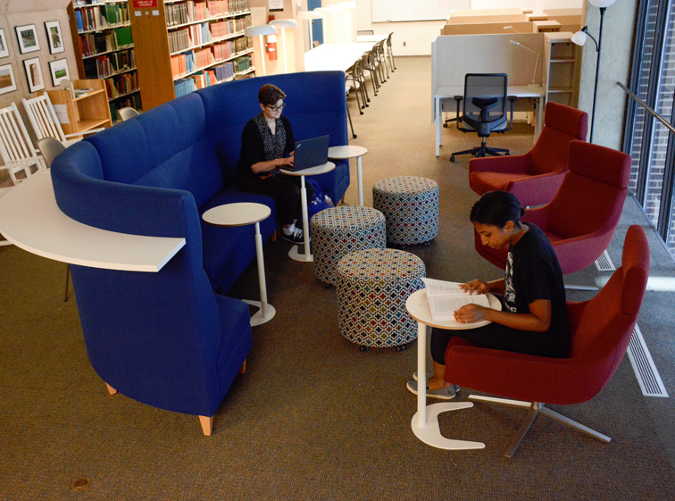 Museum Library open soft seating