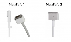 Connectors for MagSafe 1 charger versus MagSafe 2 charger