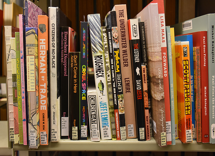 Comics and graphic novels in the Van Pelt-Dietrich Library Center stacks