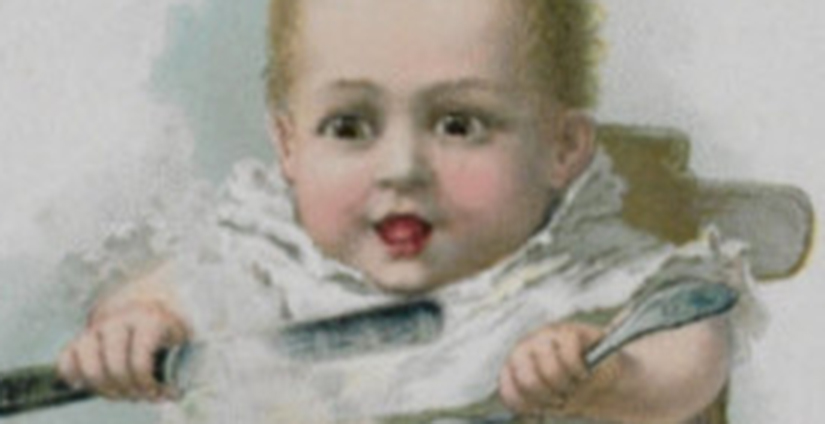 A nineteenth century drawing of a baby.