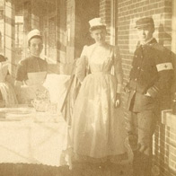 two nurses and a Union soldier