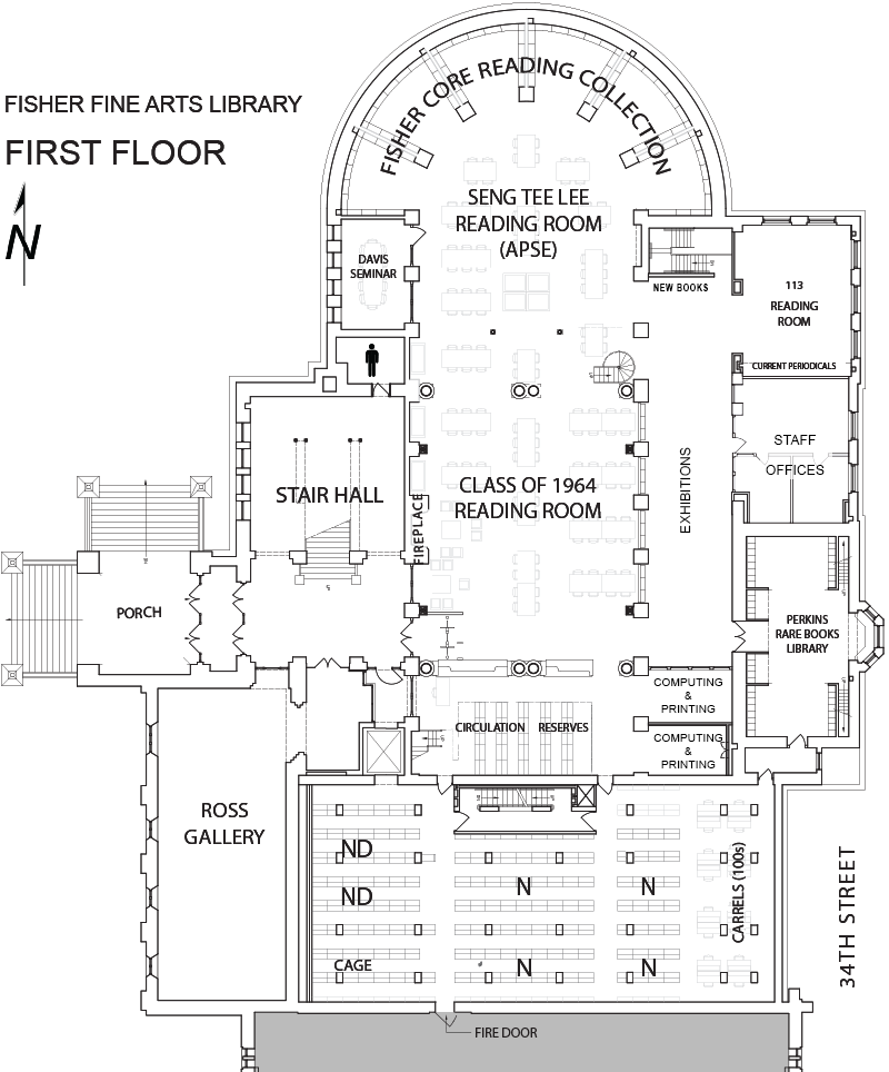 Fine Arts Library first floor plan