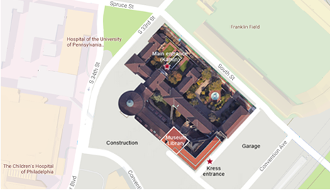 Go to campus map showing Museum Library detail