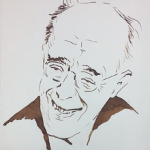 Drawing of Rudolf Serkin, Penn Rare blog post