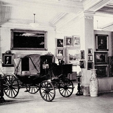 Photograph taken around 1935, when the collection was displayed in the Evans Museum, located in the east half of the Evans Building
