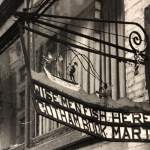 Original sign of the Gotham Book Mart