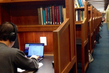 Carrels in Van Pelt-Dietrich Library Center