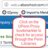 shows location of bookmarklet in a browser toolsbar