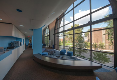 Open seating in Education Commons