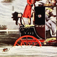 Detail: Mailcoach in a flood