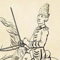 Drawing of a young cavalryman