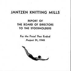 Title page showing the iconic Jantzen diver