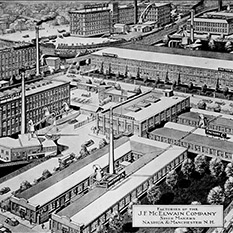 Perspective rendering of McElwain Co. factory in NH
