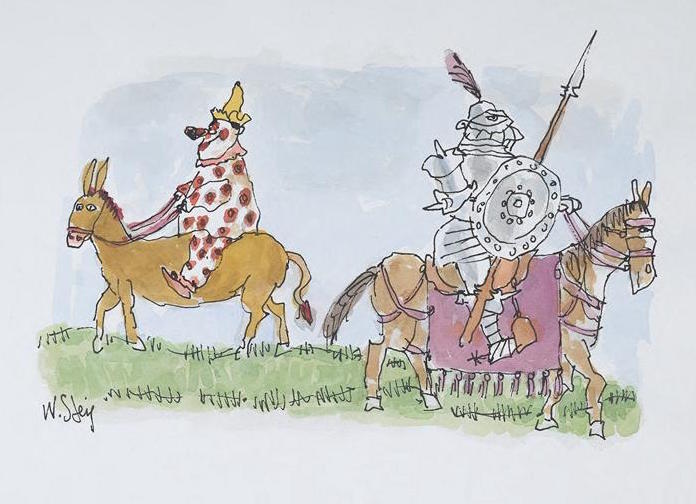 W Steig Clown and Knight on horseback CD-1 29