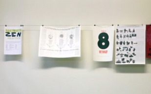 An exhibit at the Dartmouth Book Arts Studio