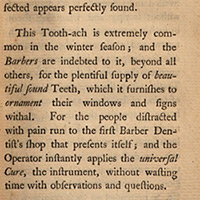 The toothache is extremely common (excerpt)