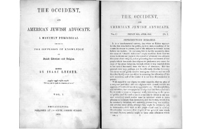Occident and American Jewish Advocate