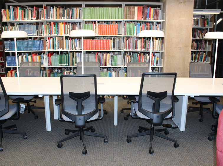 Museum Library open study table