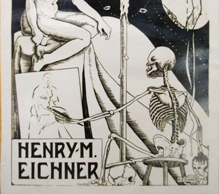 Detail of Henry M. Eichner Bookplate