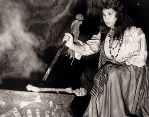 Contralto Marian Anderson in the role of Ulrica in Verdi's Un ballo in maschera
