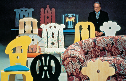 In May 1984, Knoll introduced a series of five chairs designed by Robert Venturi. The prototypes for these chairs   were given to the Fisher Fine Arts Library.