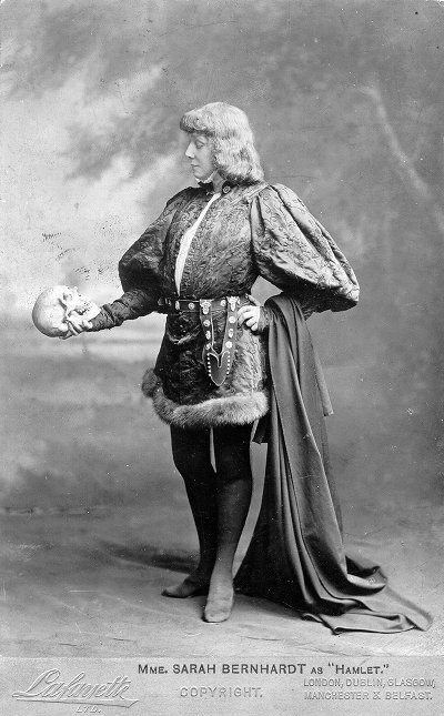 Photo of Sarah Bernhardt as Hamlet, Furness Theatrical Image Collection, Furness P/Be800.1 S, Kislak Center