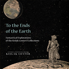 Cover of To the Ends of the Earth 2017 Calendar with a Conquistador standing on the moon looking towards earth