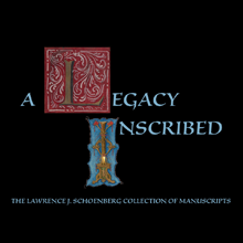 A Legacy Inscribed written using manuscript Initial L and initial I