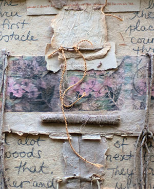 """Lesley Haas, detail of Across the Pond (handmade paper, 1999) courtesy of the artist"