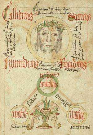 Detail of head of Christ, from [De philosophia naturali] (Germany, ca.1485-1499), Lawrence J. Schoenberg Collection, Rare Book & Manuscript Library