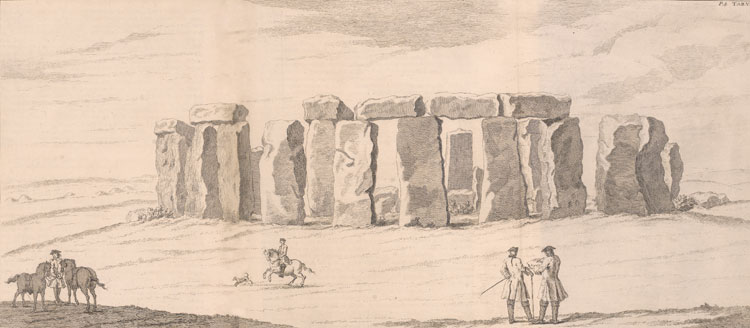 Front View of Stonehenge from William Stukely, Avebury, a Temple of the British Druids and Someothers Described..., (London, 1743), Rare Book and Manuscript Library.