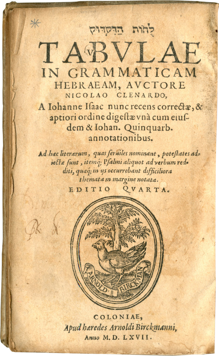 Title page of the fourth edition