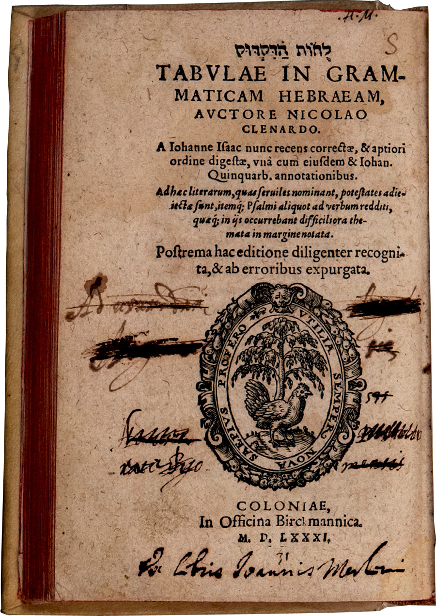 Title page of the 1581 printing