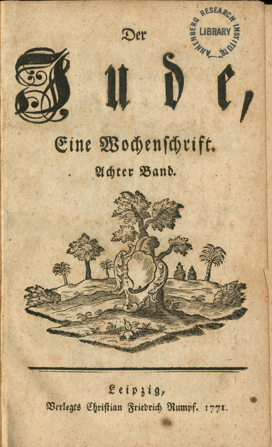 Title page of the 1771 printing