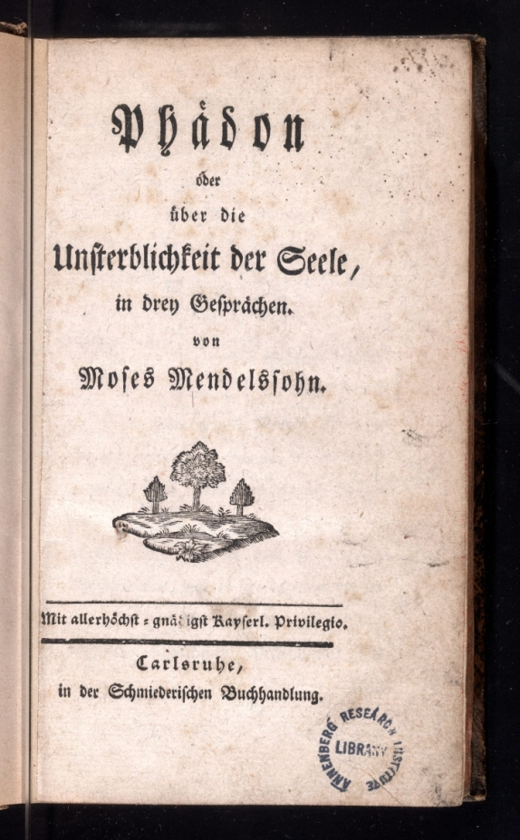 Title page of the 1750 printing