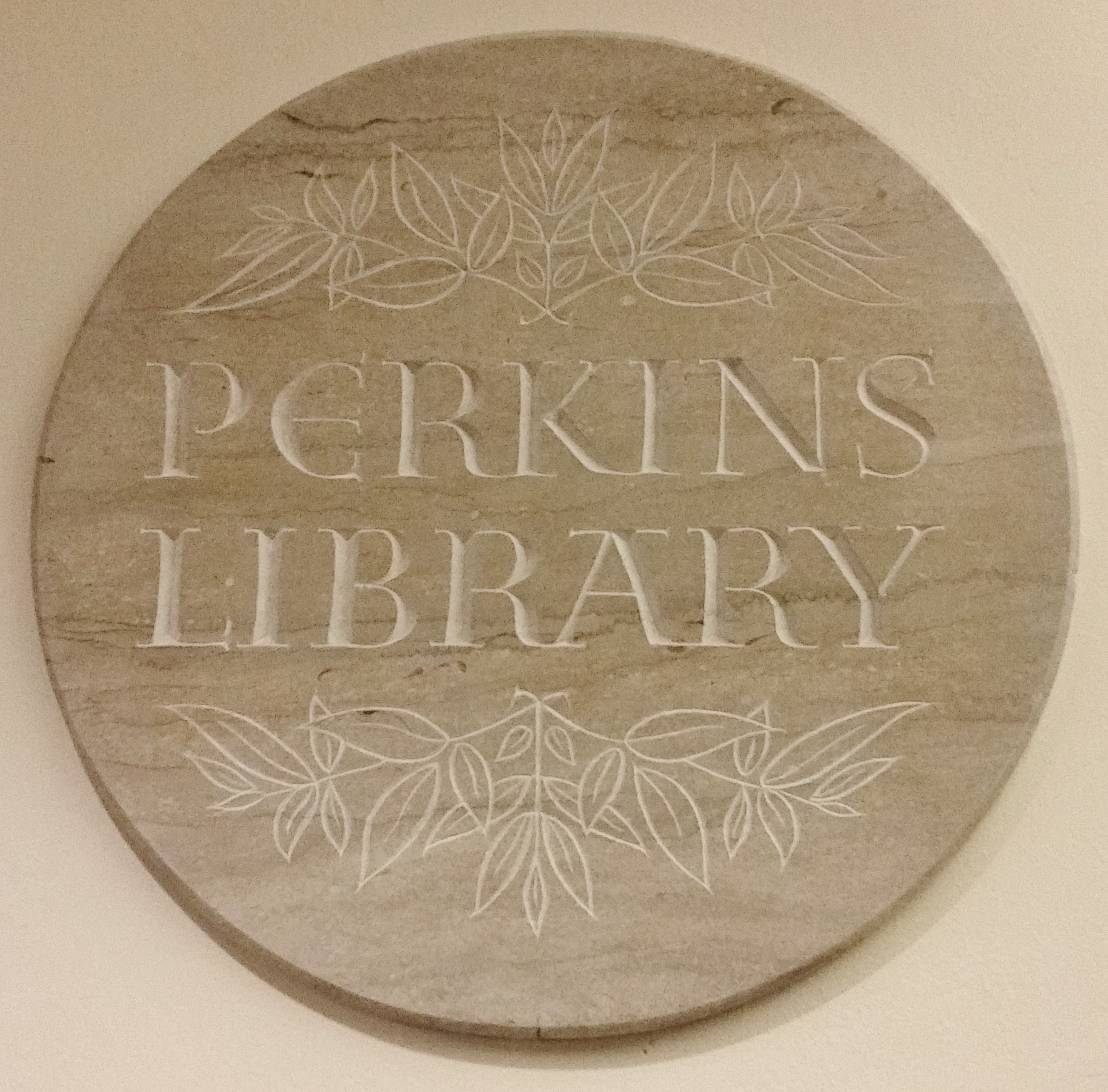Wall sign for Perkins Library