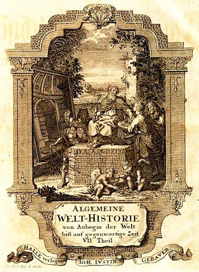 Frontispiece, depicting the allegory of history