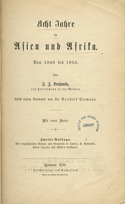 Title page of the German edition