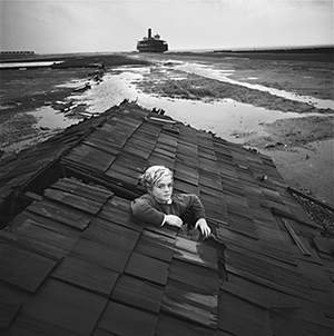 Arthur Tress, Boy in Flood Dream, Ocean City, Maryland, 1972, Gelatin Silver Print. Courtesy of the artist