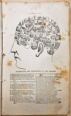 Fowler and Wells Illustrated Self-Instructor in Phrenology and Physiology (New York: Fowler & Wells, 1850). UPenn Ms Coll. 1418