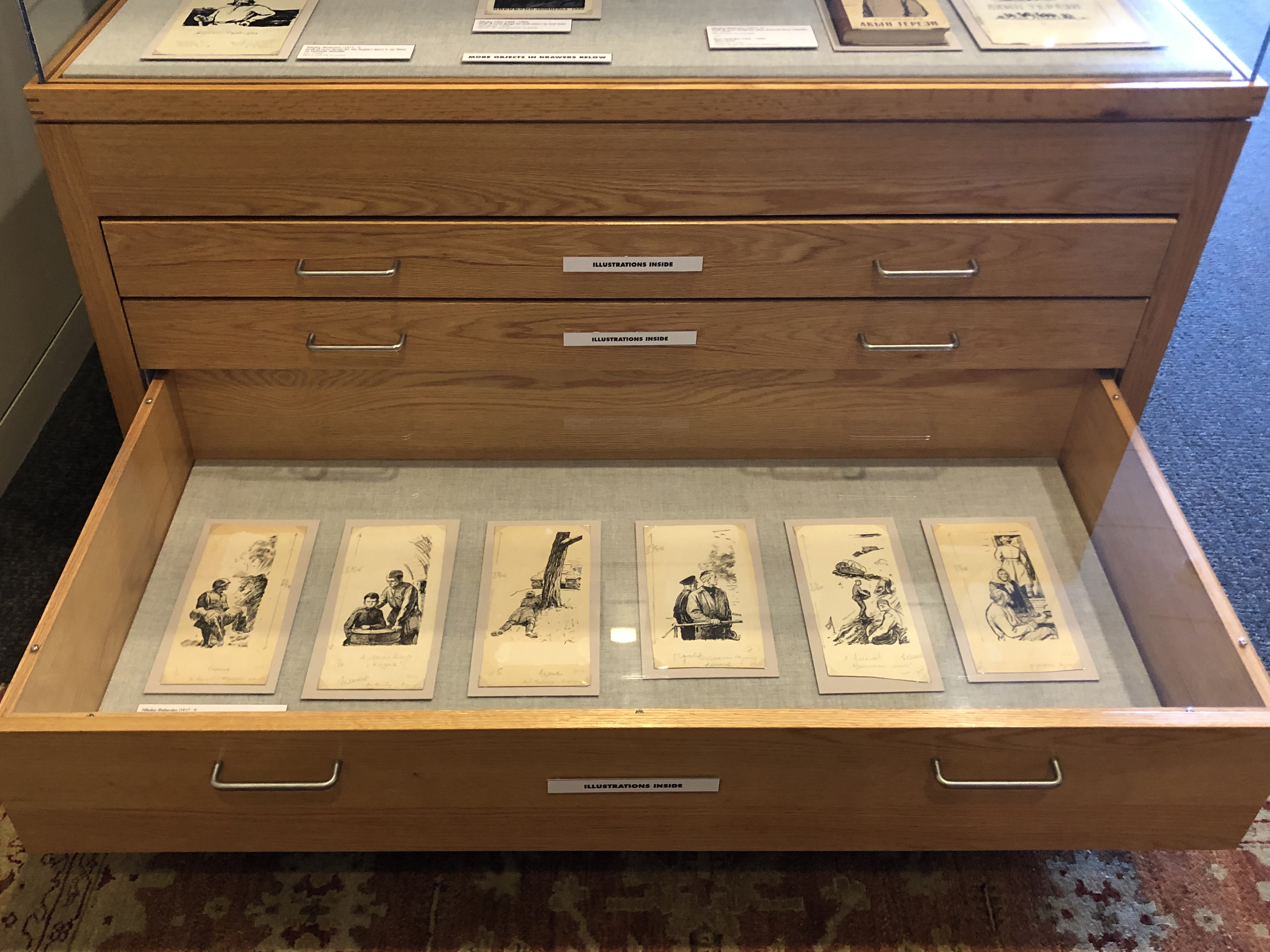 Red Etchings third drawer