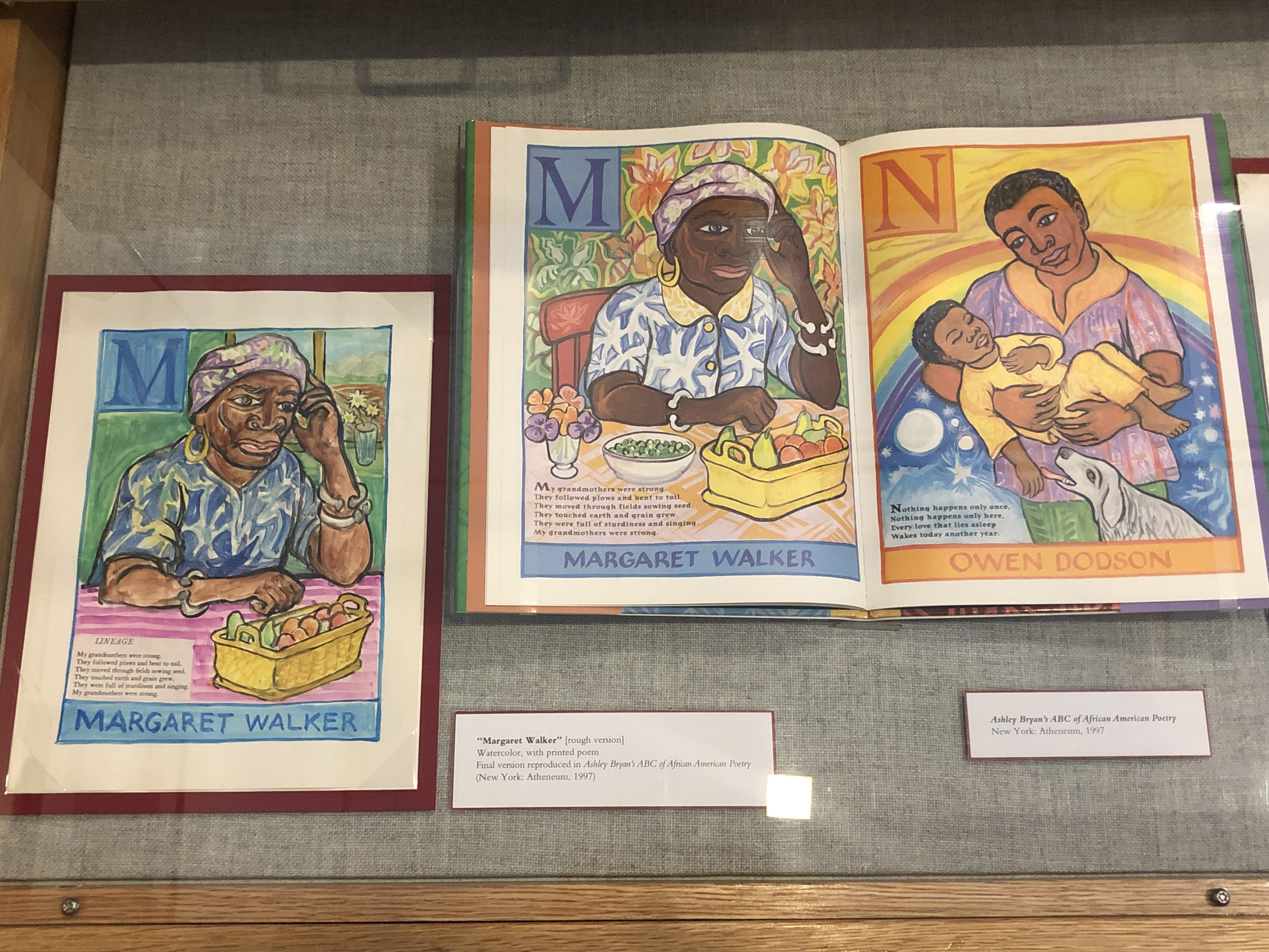 Remarkable Figures, detail of Drawer 2 - Ashley Bryan's ABC's of African American Poetry