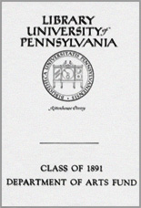 Class of 1891 Department of Arts Fund Bookplate