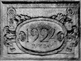 Ivy Day Plaque for Class of 1924