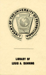 Dr. Louis A. Duhring Fund Bookplate