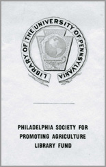 Philadelphia Society for Promoting Agriculture Bookplate